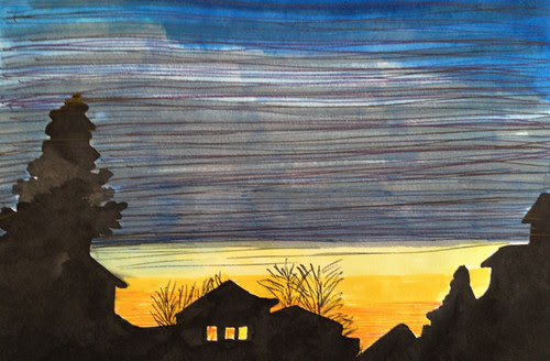 phoenixville skyline in winter by Michelle Wawra