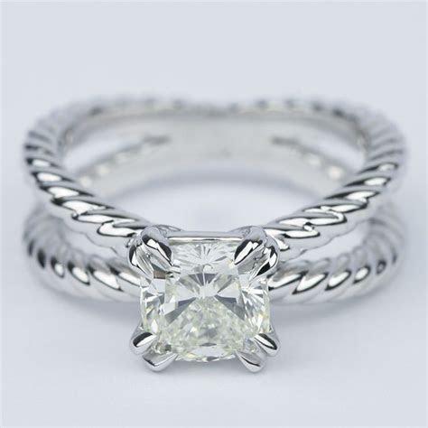 Twisted Rope Split Shank Diamond Engagement Ring (1.50 Carat)