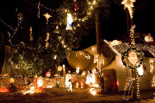 insane local Christmas light display