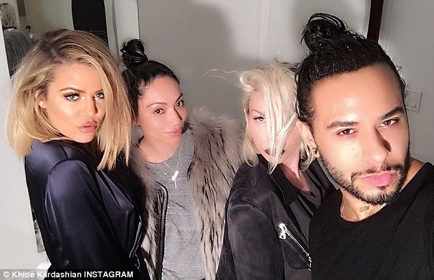 'The glamour team!' Khloe credited her stylists for getting her camera ready for the new FYI show