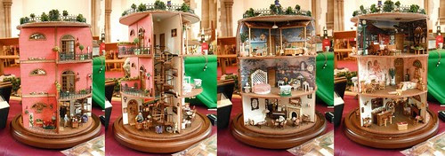 Rotating dolls house