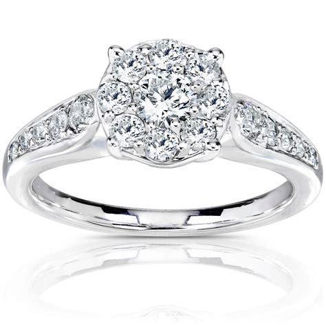 Kobelli 3/4 Carat (ct.tw) Diamond Cluster Engagement Ring
