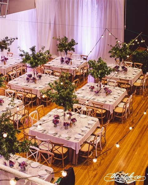 Square tables create the base of elegant formal