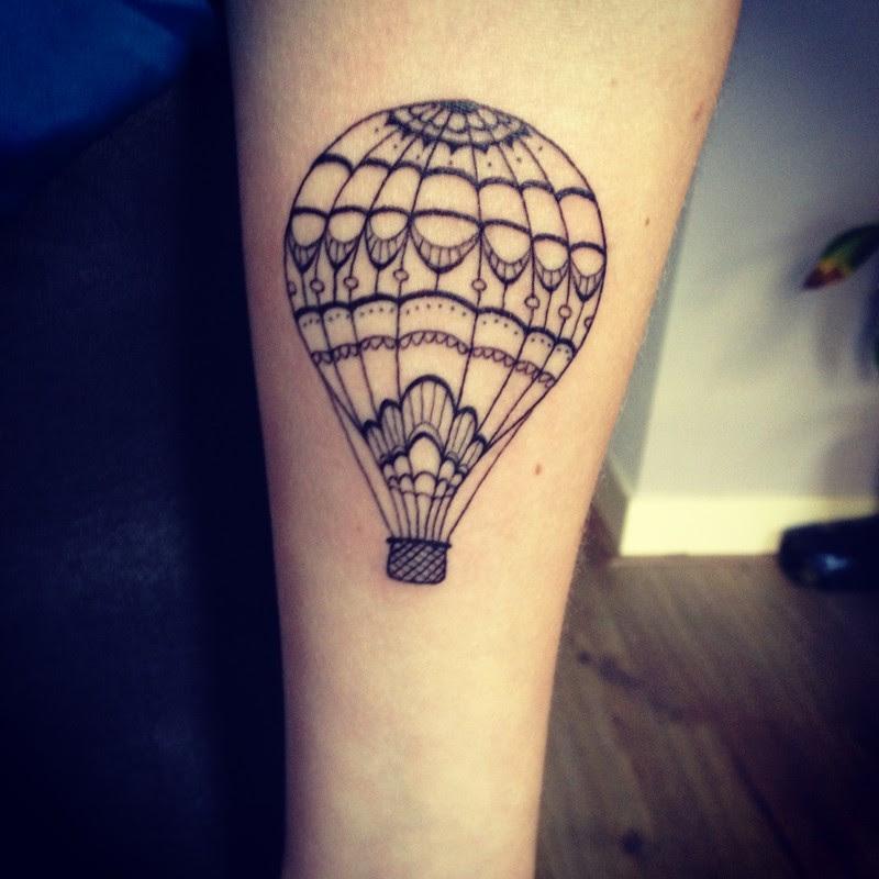 Small Air Balloon Tattoo
