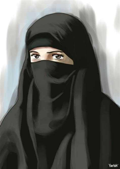 hijab drawing images  pinterest anime muslimah