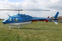 G-BSBW - 1982 build Bell 206B Jet Ranger III, at the 2011 Cheltenham Festival