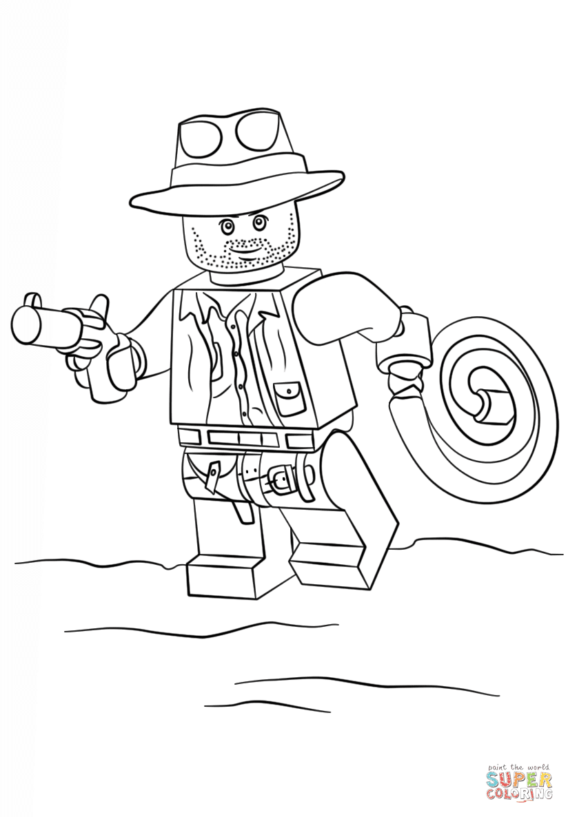 er sur la Indiana Jones Lego coloriages