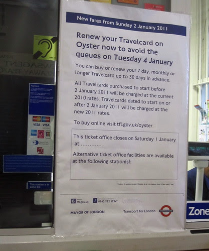 Travelcard increase poster by Annie Mole