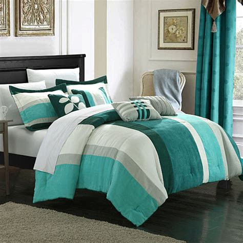 buy chic home melodie  piece plush microsuede striped