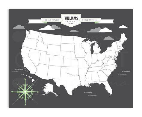 Modern USA Travel Map   76thandnewbury