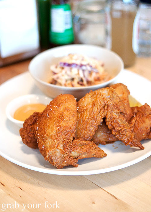 buttermilk fried chicken at pearl's diner, felixstowe, adelaide