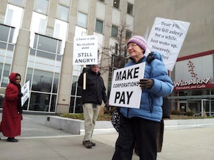 MoveOn Council Delivers Bush Tax Cuts Petition to Obama 2012 HQ in Chicago