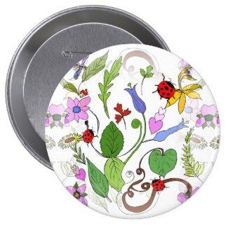 Floral Design on Button