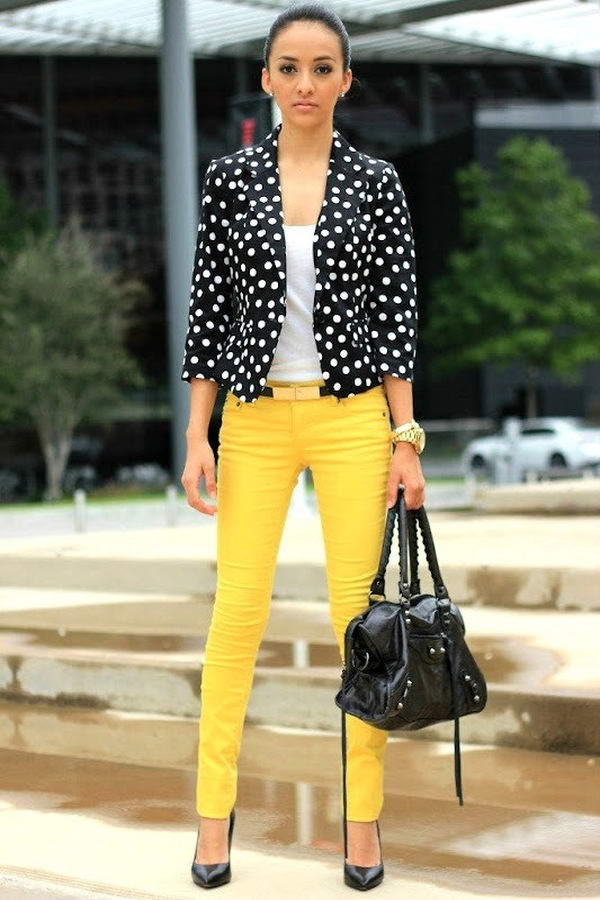 Image result for polka dots blazer
