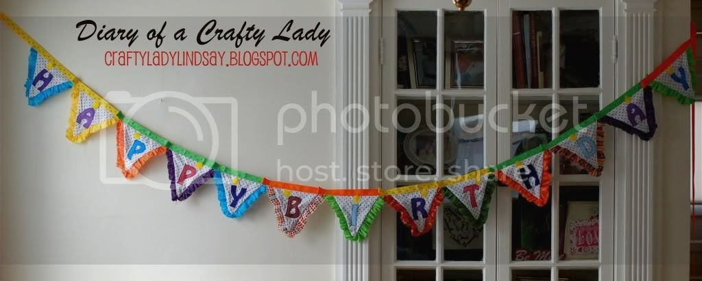 Diary Of A Crafty Lady Happy Birthday Pennant Ruffle Banner