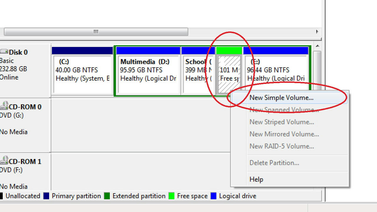 how to detect new hard drive windows 7