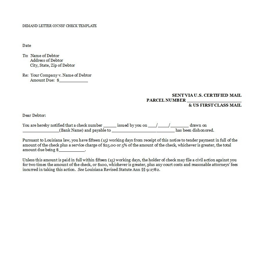 20 demand letter payment template final sample templates