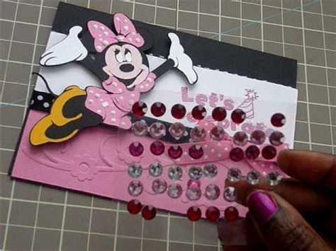 Cricut Disney Minnie Mouse Card Pt 2!   YouTube