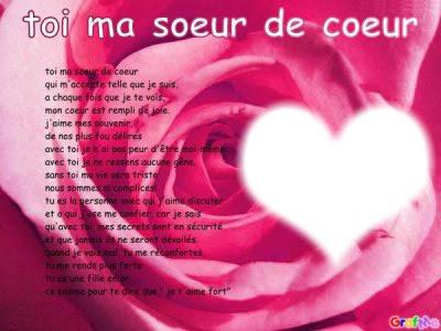 Bonne Fête Ma Soeur De Coeur