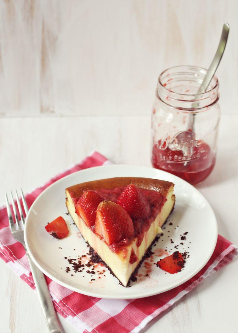 Strawberry Cheesecake abeautifulmess.com