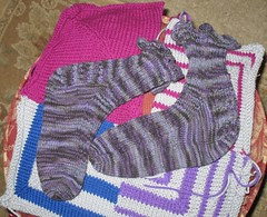 Socks and Mitred Squares