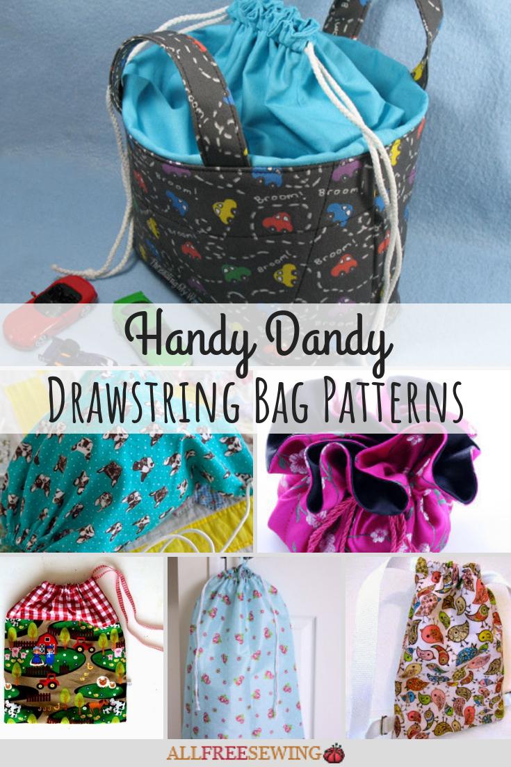 26 Drawstring Bag Patterns Tutorials Allfreesewing Com