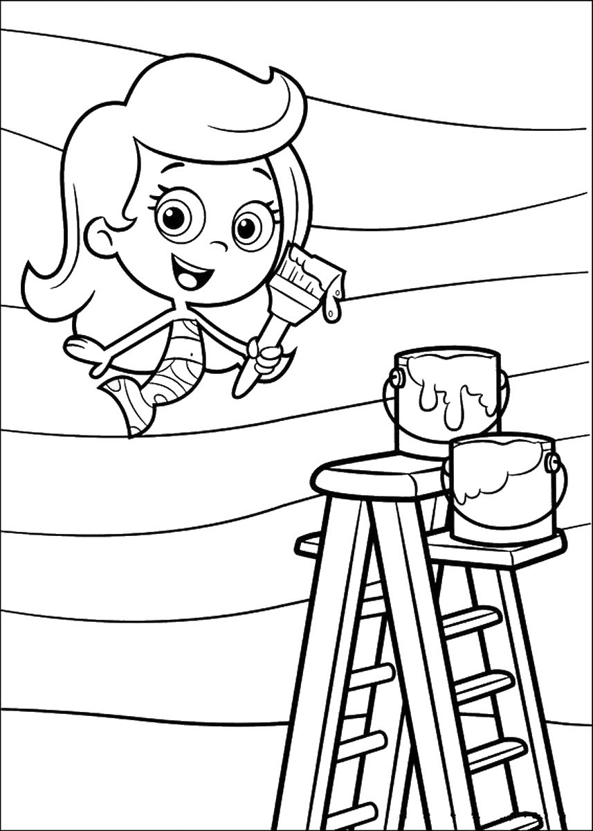 Bubble Guppies Coloring pages | Birthday Printable