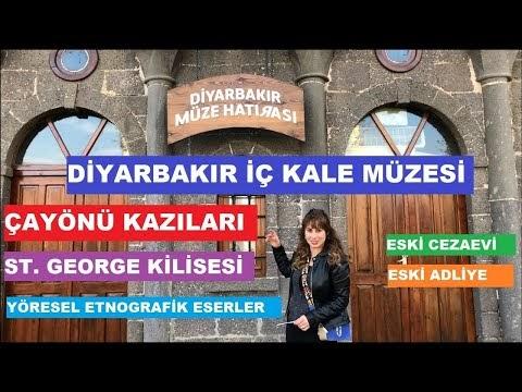 Diyarbakır Müzesi, Dağkapı İçkale, Diyarbakır Arkeoloji Müzesi gezi ve tanıtım - 4K