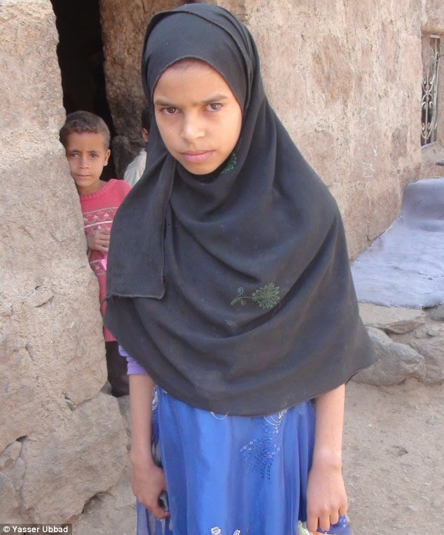 Child bride: Ifthikar, aged eight, had no idea it was her wedding, nor that she was about to get married to her cousin