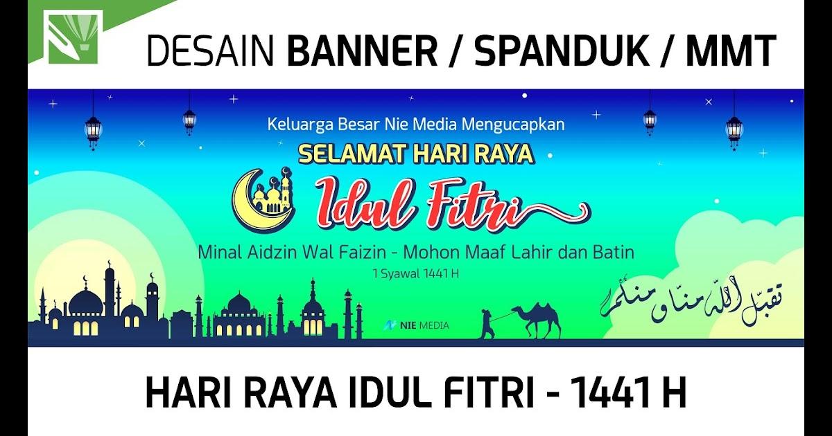 Contoh Baliho Idul Fitri 2020 - desain spanduk keren