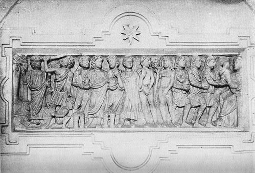 Sepulcro romano en el Convento de Santo Domingo el Real (Toledo) a finales del siglo XIX.