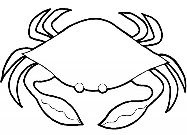 crab clipart black and white Black And White Line Drawing Crab This Coloring Pages Quoteko 640x463