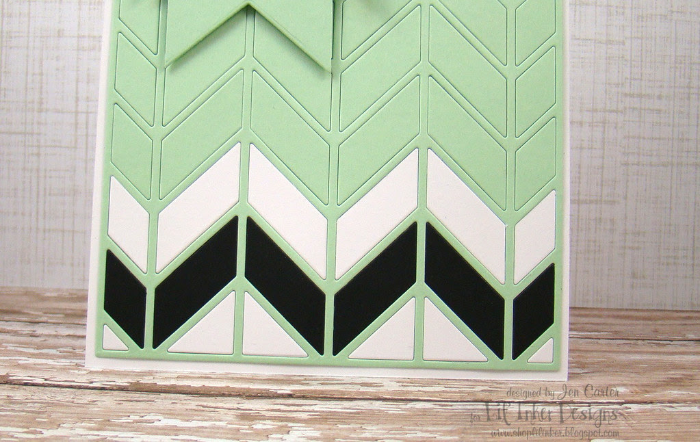 Mint Chevron Closeup Bottom