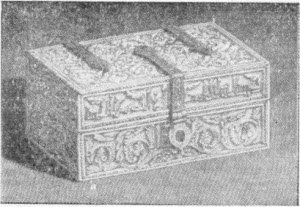 படம் 298 - சி. ரெல்வாஸின் புகைப்படத்தின்படி, 12 ஆம் நூற்றாண்டில் (கென்சிங்டன் அருங்காட்சியகம்) செதுக்கப்பட்ட ஐவரி காஃபர்.