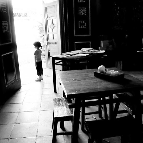 Street Photography: Girl At Door by aspenrock