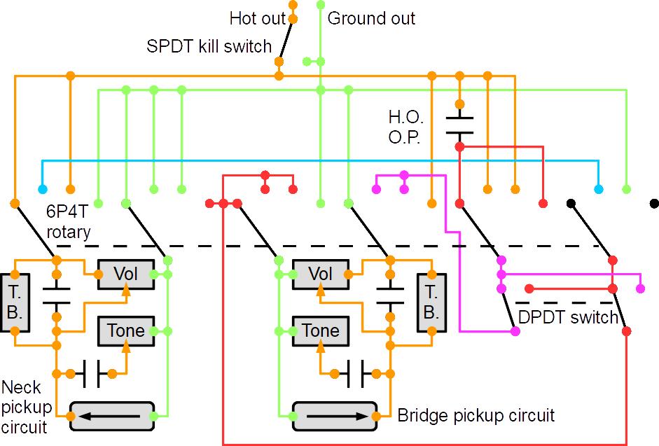 Parallel Wiring Diagram Hot Rail Neck