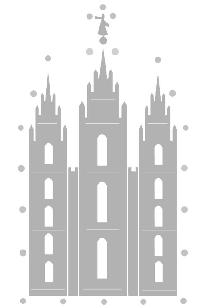 Salt Lake Temple Sewing Card