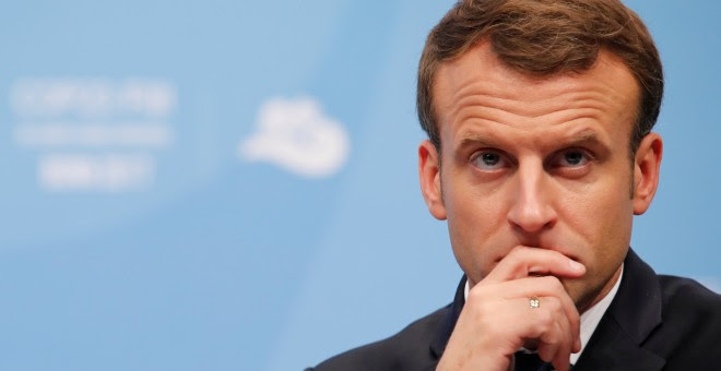 El presidente de Francia Emmanuel Macron./REUTERS