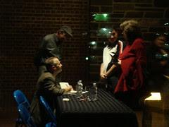 David Sedaris signing books at Princeton