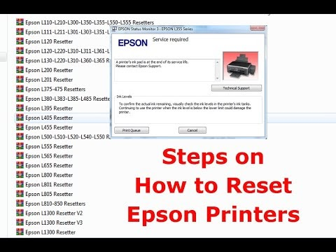 Steps on How to Reset Epson Printers