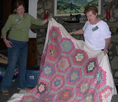 Dorothy's Antique Grandmother's Flower Garden Quilt