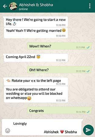 Whatsapp Themed Wedding Invitation Card ? SeeMyMarriage