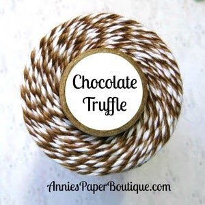 Image of Chocolate Truffle Trendy Twine {Lt Brown & Dk Brown Bakers Twine}