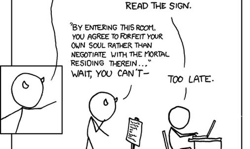 xkcd: Faust vs. EULA