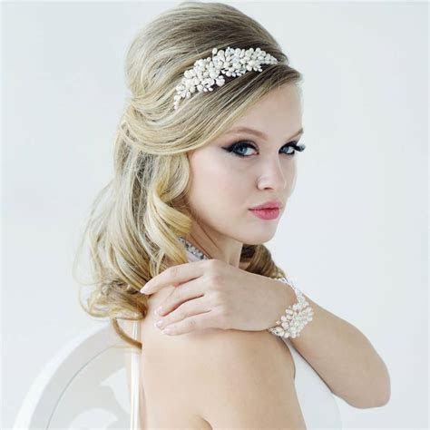 bessie pearl hair band by lola & alice