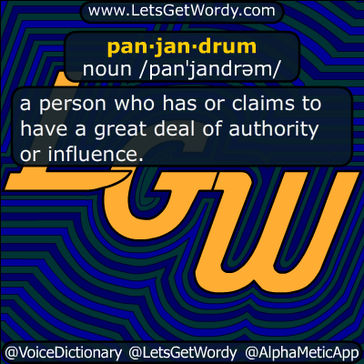 panjandrum 02/11/2018 GFX Definition