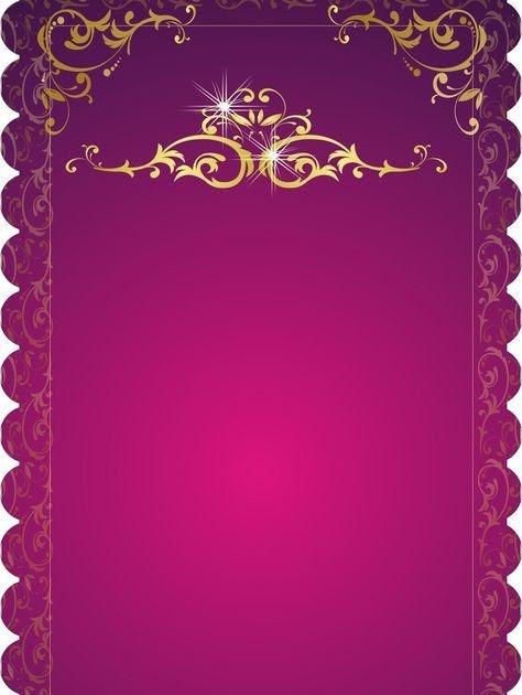 Full Hd Blank Background Wedding Invitation Card Design ...