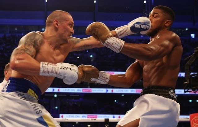 Anthony Joshua Loses All His Title Belts To Oleksandr Usyk By Unanimous Decision