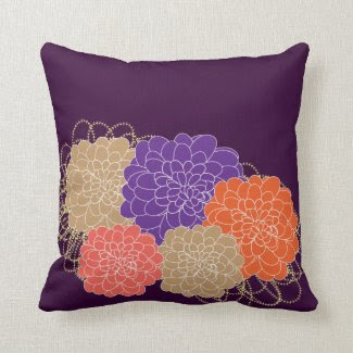 Beautiful Whimsical Floral Print Throw Pillows