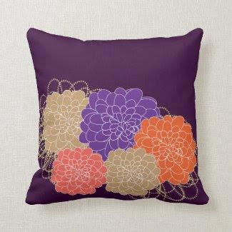 Beautiful Whimsical Floral Print Throw Pillows
